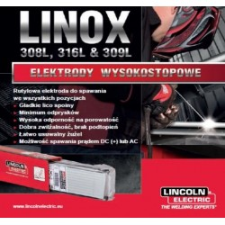 LINCOLN ELEKTRODA LINOX 316L 4,0mm 3,12kg DO STALI WYSOKOSTOPOWYCH