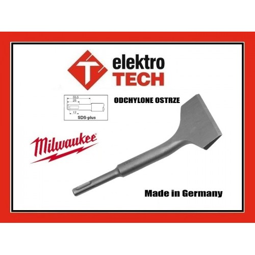 MILWAUKEE DŁUTO DO USUWANIA TYNKU SDS-plus 75x165mm
