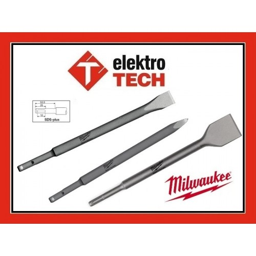 ZESTAW DŁUT 200 MM MILWAUKEE SDS-PLUS 3 SZTUKI