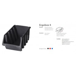 PATROL ERGOBOX 4 NIEBIESKI, 204 x 340 x 155mm