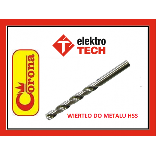 WIERTŁO DO METALU HSS 6 MM CORONA